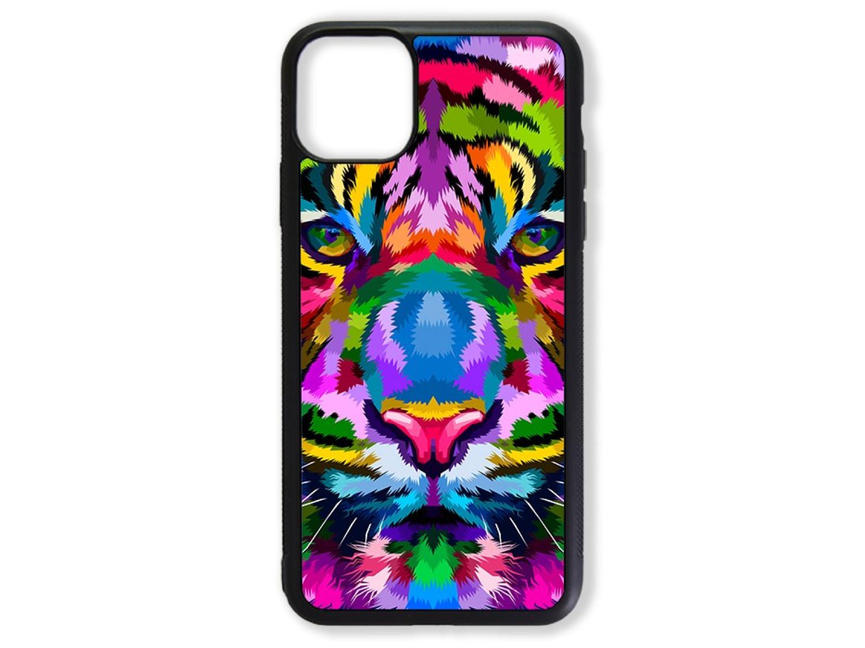 Чехол для Iphone 11 Тигр цветной