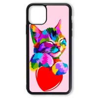 Чехол для Iphone 11 Цветной кот