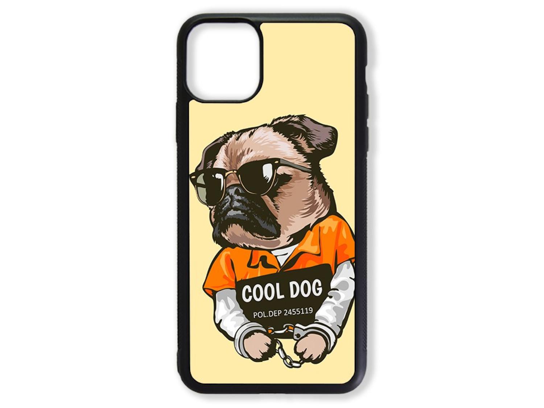 Чехол для Iphone 11 Мопс. Cool dog