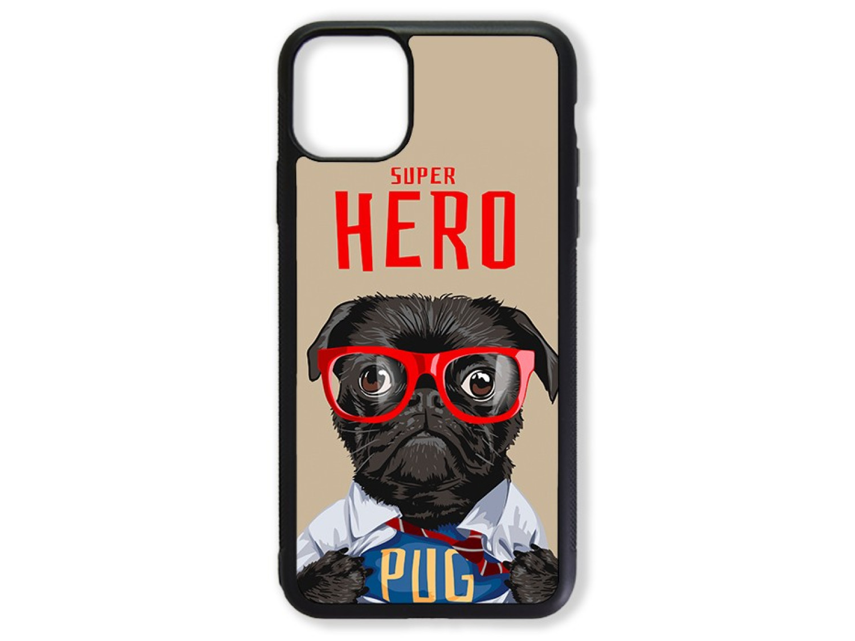 Чехол для Iphone 11 Мопс супер герой