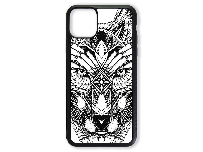 Чехол для Iphone 11 Pro Max Волк чёрно-белый