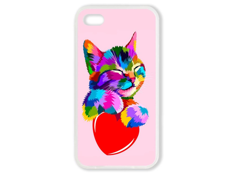 Чехол для Iphone 4S Цветной кот