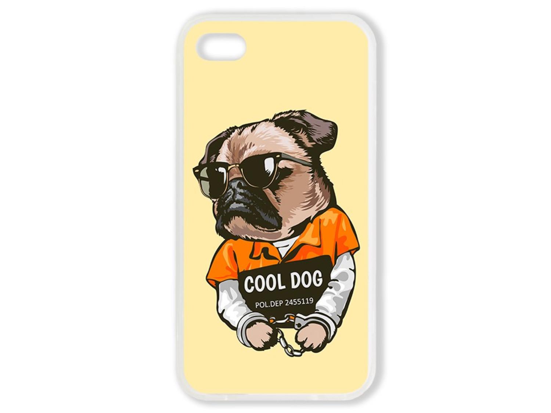 Чехол для Iphone 4 Мопс. Cool dog