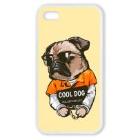 Чехол для Iphone 4S Мопс. Cool dog