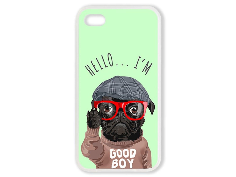 Чехол для Iphone 4S Hello от мопса