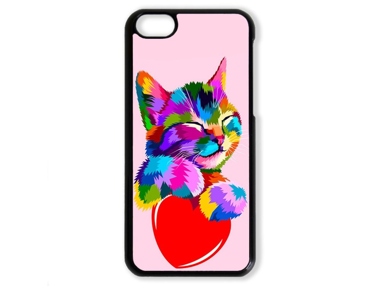 Чехол для Iphone 5C Цветной кот