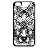 Чехол для Iphone 5C Волк чёрно-белый
