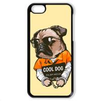 Чехол для Iphone 5C Мопс. Cool dog