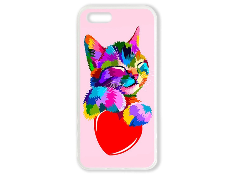 Чехол для Iphone 5 Цветной кот