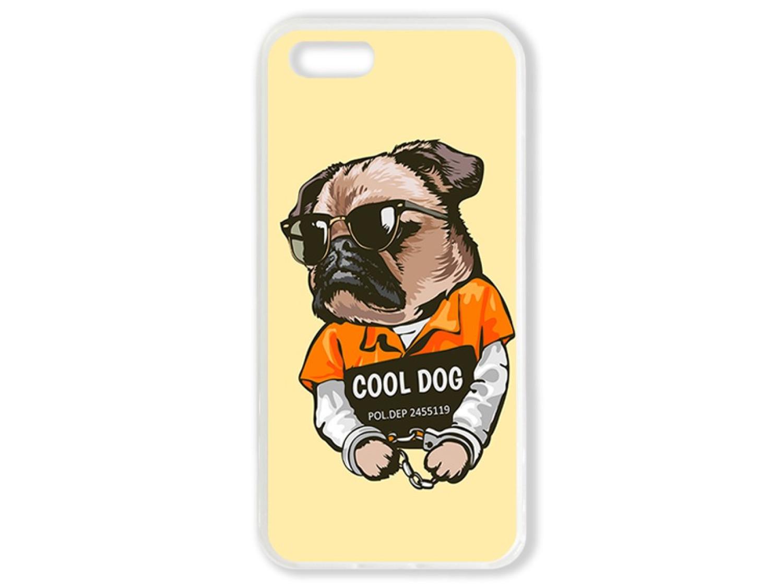 Чехол для Iphone 5 Мопс. Cool dog