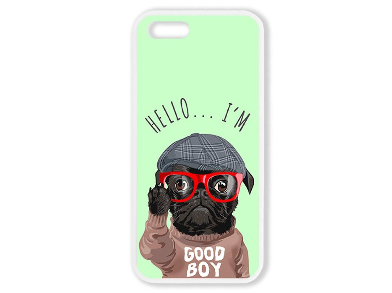 Чехол для Iphone 5S Hello от мопса