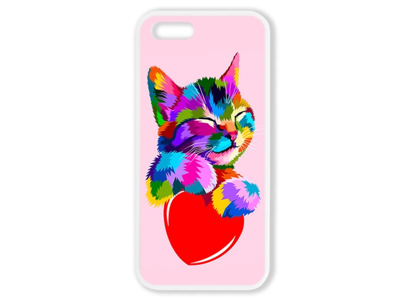 Чехол для Iphone 5S Цветной кот