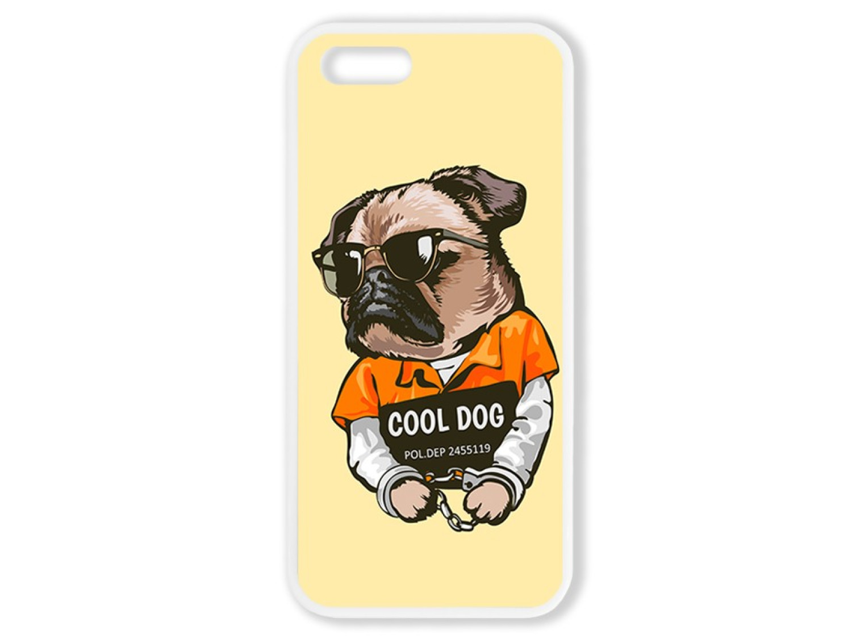 Чехол для Iphone 5S Мопс. Cool dog