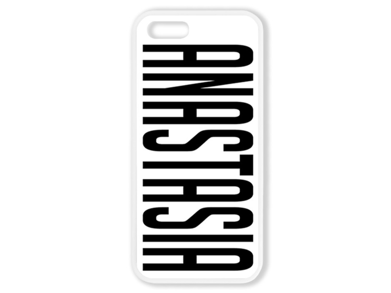 Чехол для Iphone 5S Именной (прозрачный текст)