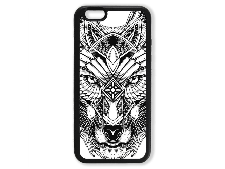 Чехол для Iphone 6 Волк чёрно-белый