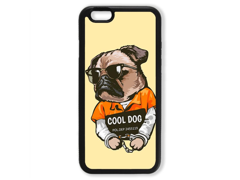 Чехол для Iphone 6 Мопс. Cool dog