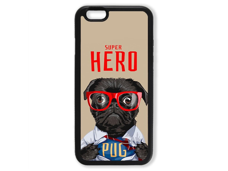 Чехол для Iphone 6 Мопс супер герой