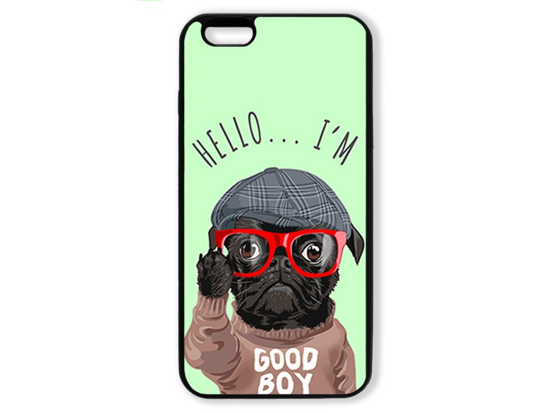 Чехол для Iphone 6+ Hello от мопса