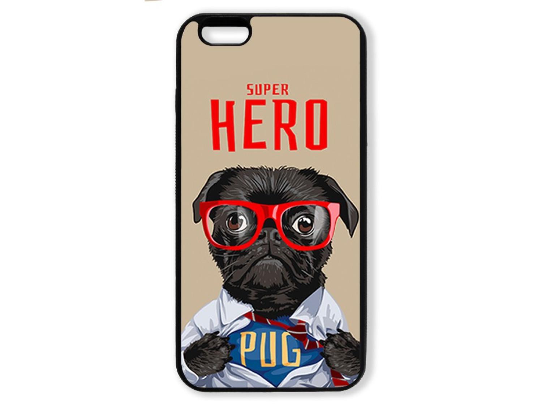 Чехол для Iphone 6+ Мопс супер герой