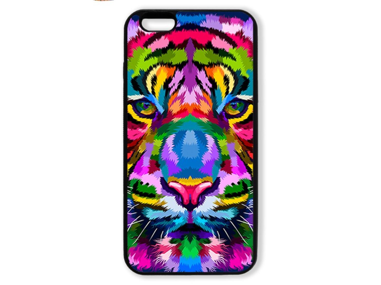 Чехол для Iphone 6+ Тигр цветной