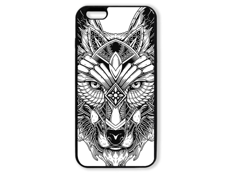 Чехол для Iphone 6+ Волк чёрно-белый