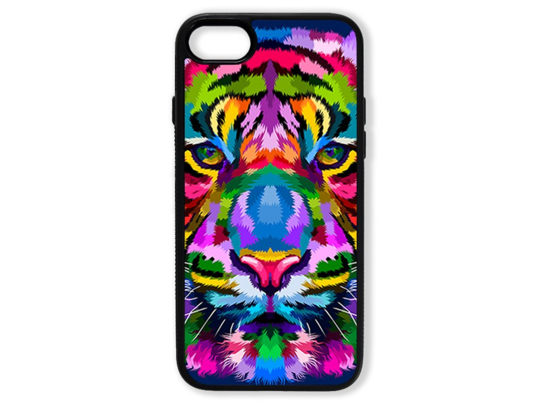 Чехол для Iphone 8 Тигр цветной