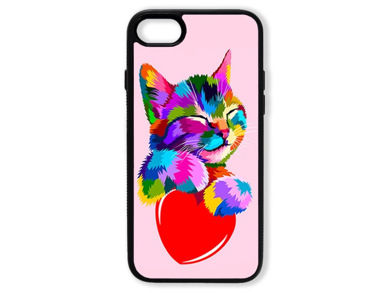 Чехол для Iphone 8 Цветной кот