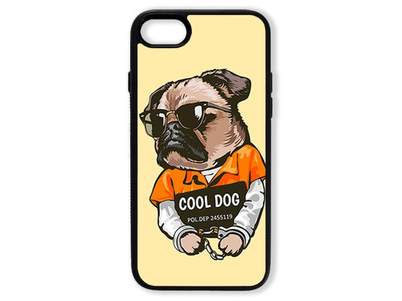 Чехол для Iphone 8 Мопс. Cool dog