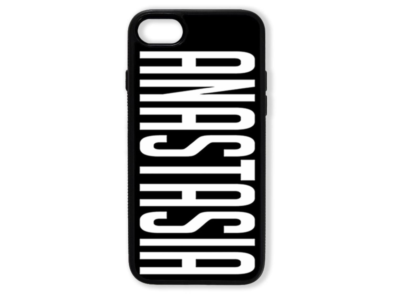Чехол для Iphone 8 Именной (белый текст)