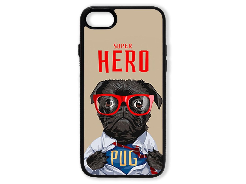 Чехол для Iphone 7 Мопс супер герой