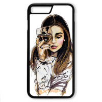Чехол для Iphone 7+ Девушка с бокалом