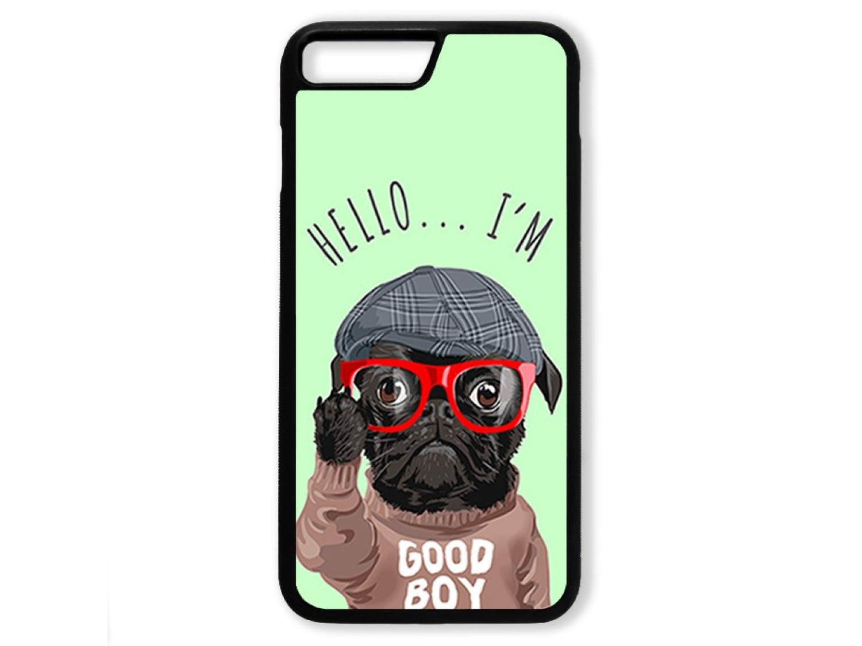 Чехол для Iphone 7+ Hello от мопса