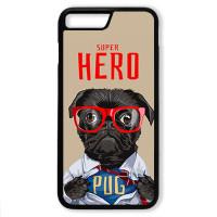 Чехол для Iphone 7+ Мопс супер герой