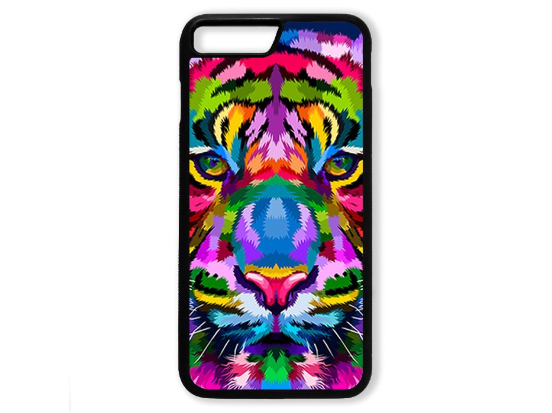 Чехол для Iphone 7+ Тигр цветной