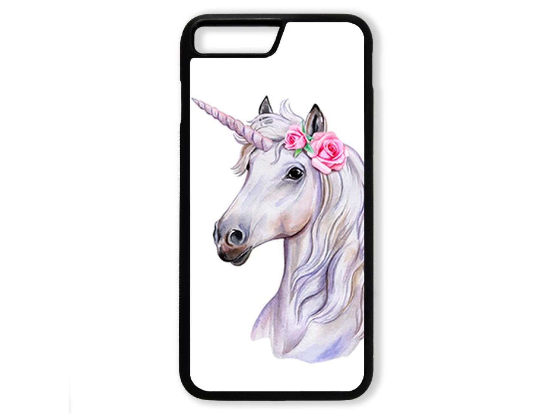 Чехол для Iphone 7+ Единорог с розами