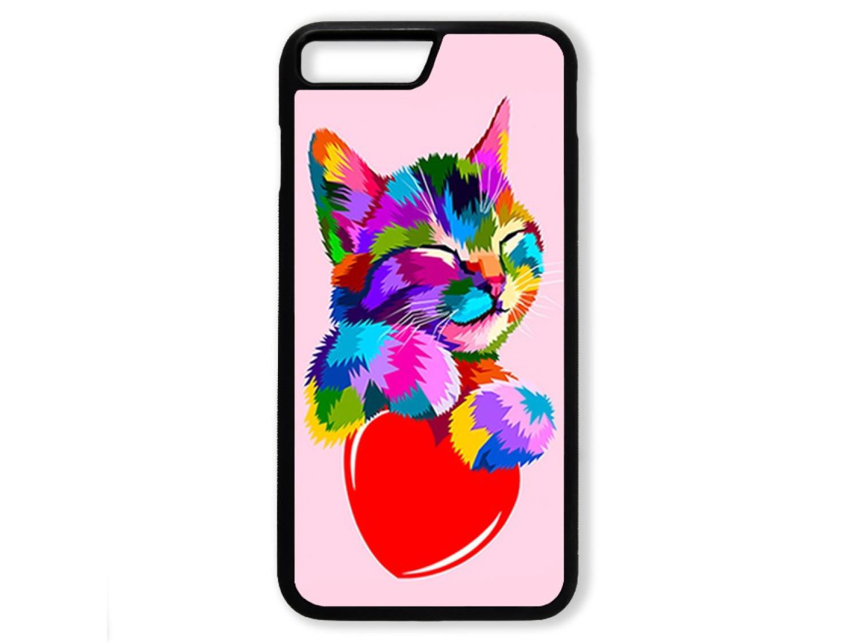 Чехол для Iphone 7+ Цветной кот