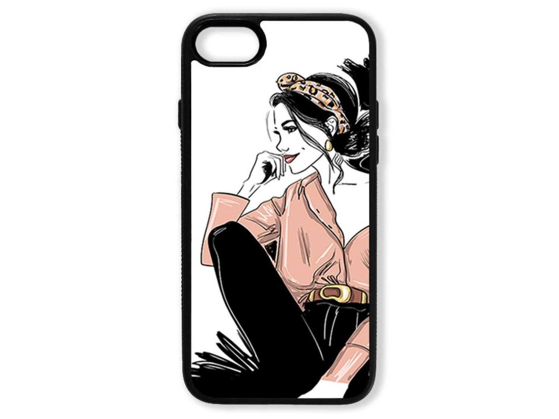 Чехол для Iphone 8 Девушка с повязкой