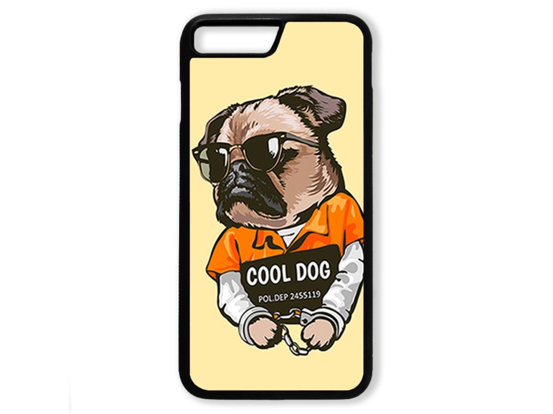 Чехол для Iphone 8+ Мопс. Cool dog
