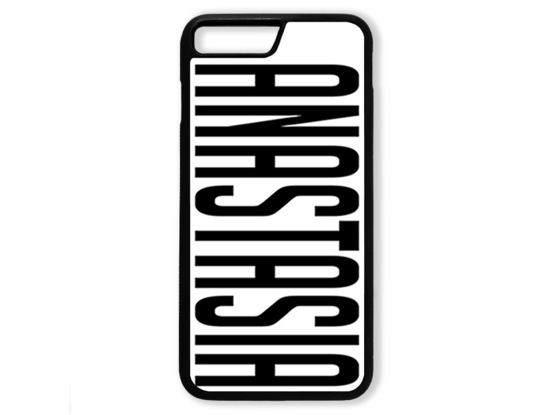 Чехол для Iphone 7+ Именной (прозрачный текст)