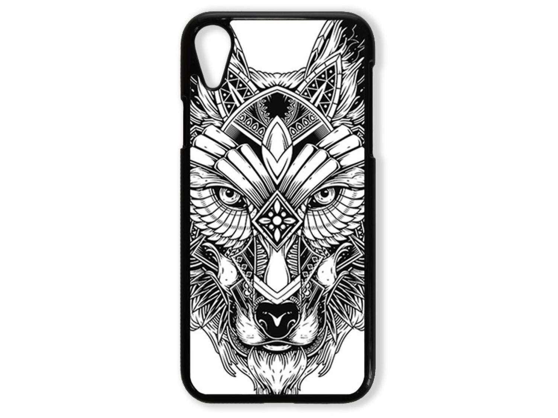 Чехол для Iphone XR Волк чёрно-белый