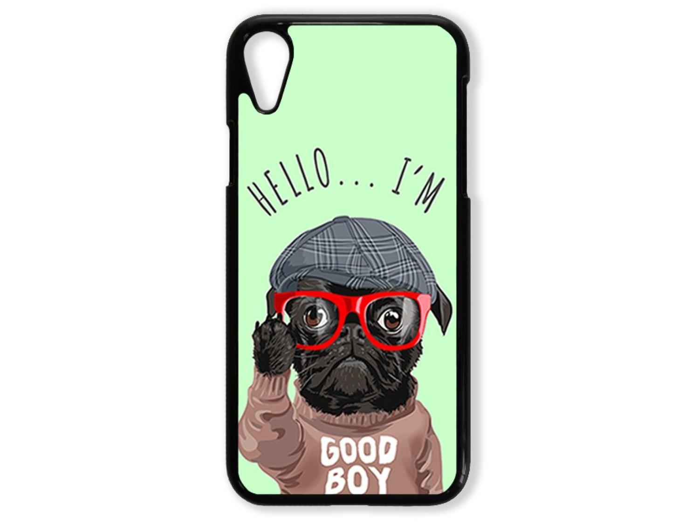 Чехол для Iphone XR Hello от мопса