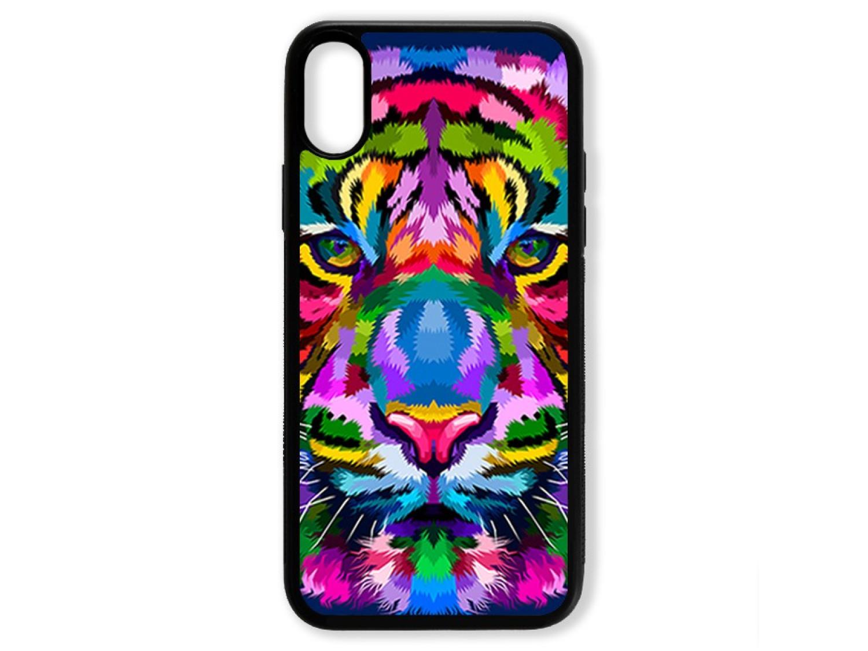 Чехол для Iphone XS Тигр цветной