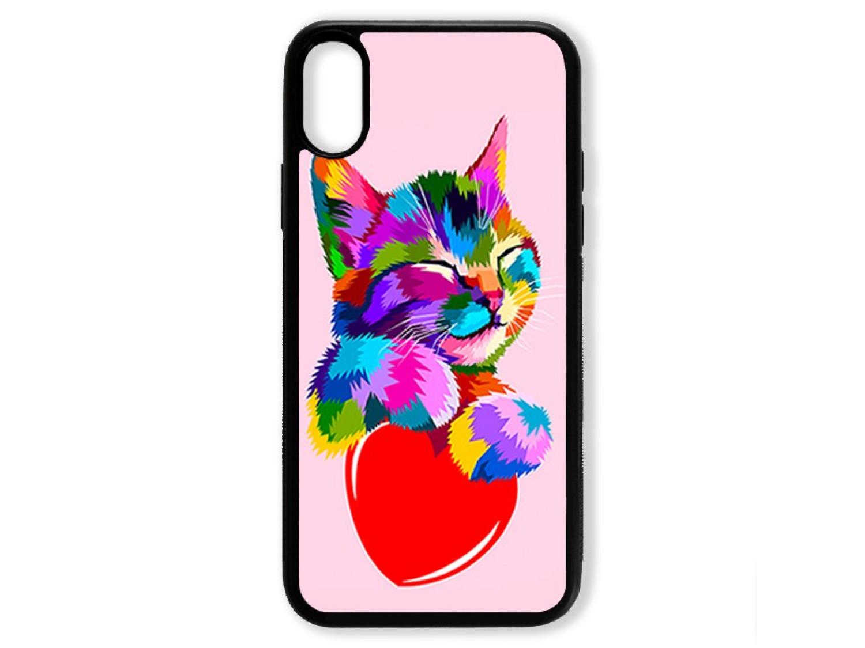 Чехол для Iphone X Цветной кот