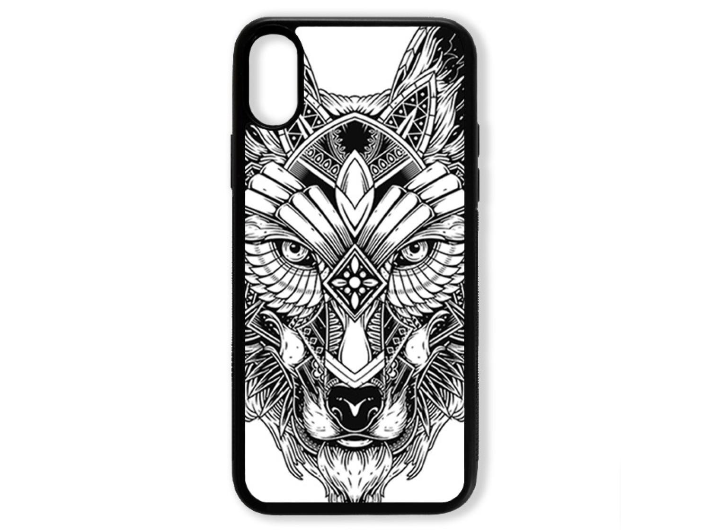 Чехол для Iphone XS Волк чёрно-белый