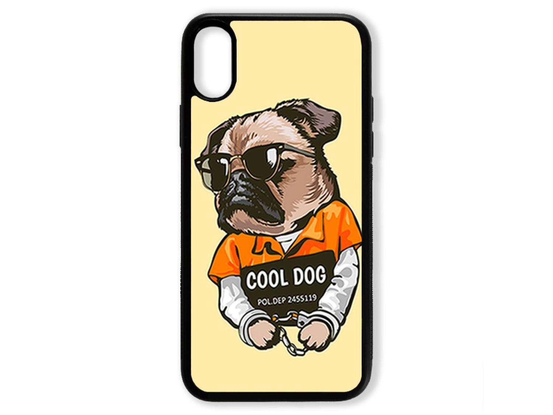 Чехол для Iphone X Мопс. Cool dog