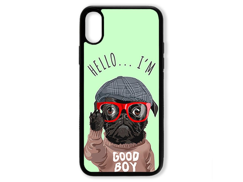 Чехол для Iphone XS Hello от мопса