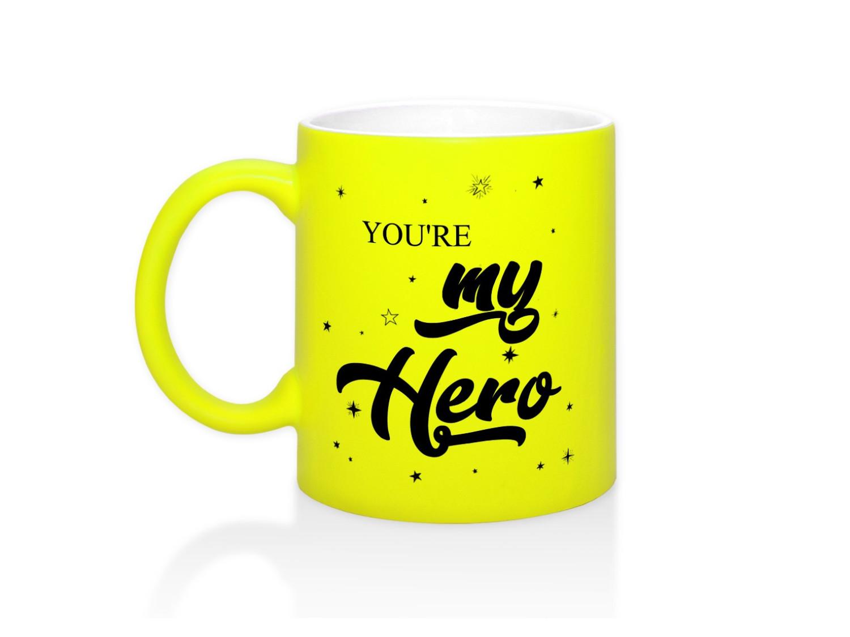 Кружка неоновая You are my hero