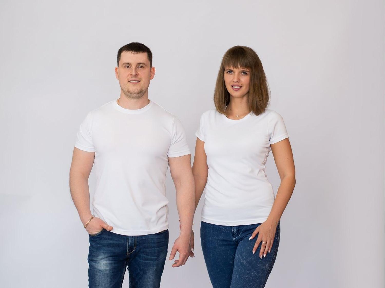 Парные футболки Без дизайна