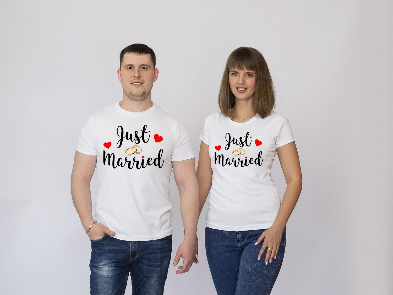 Парные футболки Just Married