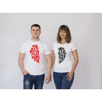 Парные футболки Половинки сердца